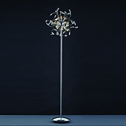 Joshua Marshal Home Collection Modern Polished Chrome Floor Lamp