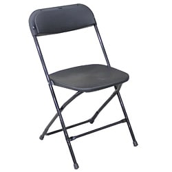 Lightweight Black Plastic Folding Chairs (Pack of 6)