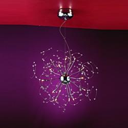Joshua Marshal Home Collection Medusa 15-light Chrome Crystal Adjustable Hanging Pendant