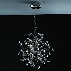 Joshua Marshal Home Collection Modern 18-light Chrome Crystal Encompassed Adjustable Hanging Pendant