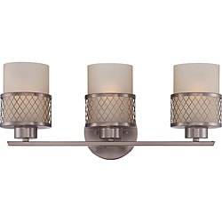 Fusion Bronze and Russet Glass 3-Light Vanity Fixture
