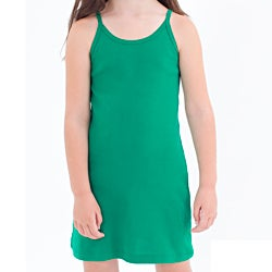 American Apparel Kids&#39; Cotton Baby Rib Spaghetti Tank Pullover Dress