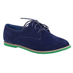 XICA by Beston Women's 'Joe-01' Blue/ Green Oxfords