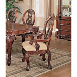 Versailles Cherry Arm Chairs (Set of 2)