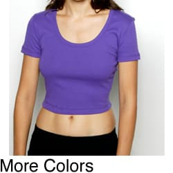 American Apparel Women's Baby Ribbed Cotton Cropped Tee
