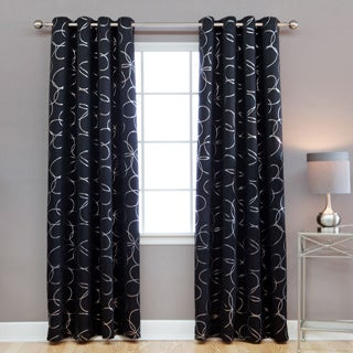 Aurora Home Grommet Top Blackout 84-inch Curtain Panel Pair