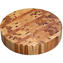 Kobi Michigan Maple Round Butcher Block Cutting Board