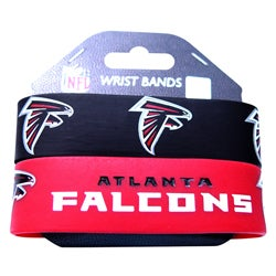 Atlanta Falcons Rubber Wrist Band (Set of 2) NFL