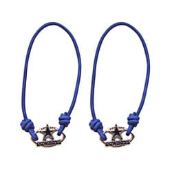 Dallas Cowboys Charm Hair Tie Band Set