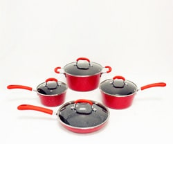 Gourmet Chef 8-piece Ceramic Cookware Set.