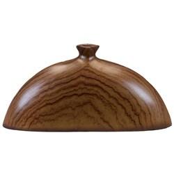 Wood Tone Ceramic Vase