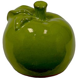 Small Green 5-inch Ceramic Apple