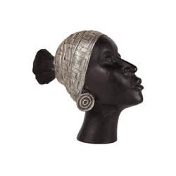 Black Resin African Lady's Head