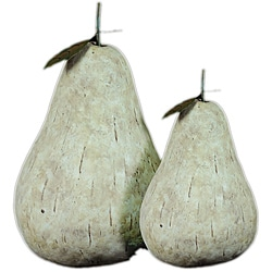 Resin Pear Figurines (Set of 2)