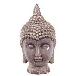 Purple Ceramic Buddha Head