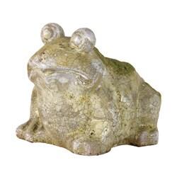 Moss Finish Stoneware Frog