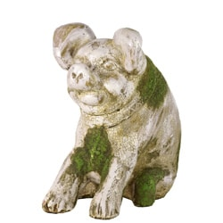 Moss Finish Stoneware Pig