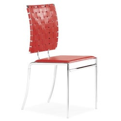 Criss Cross Red Dining Chair (Set of 4)