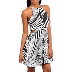 Stanzino Women's Halter A-line Dress