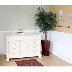 Bellaterra Home Cream White 60-inch Vanity