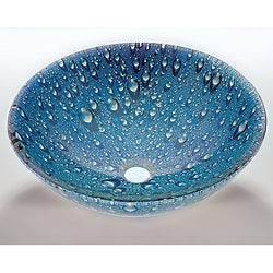 Blue Glass Sink Bowl