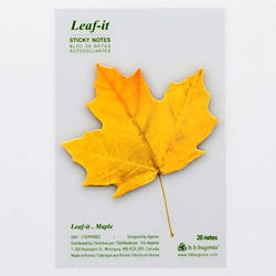 Leaf-it Maple Yellow Medium Sticky Notes (Pack 20)