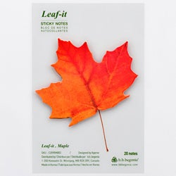 Leaf-it Maple Red Medium Sticky Notes (Pack of 20)