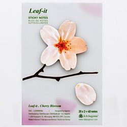 Leaf-it Cherry Blossom White Medium Sticky Notes (Pack of 20)