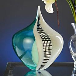 Authentic Murano Glass Lower Gelosia Green Vase
