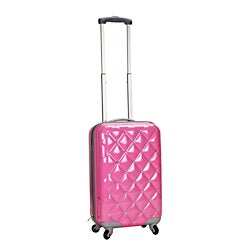 Rockland Diamond 20-inch Pink Lightweight Hardside Spinner Carry-on Luggage