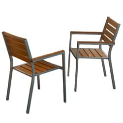 Christopher Knight Home Lanai Natural Poly Wood Outdoor Chairs (Set of 2)