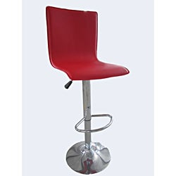 Red and Chrome Bar Stools (Set of 2)