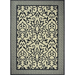 Tufted Sisal Printed Indoor/ Outdoor Grey Endless Love Rug (5' x 7')