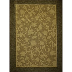 Renewal Chocolate Indoor/Outdoor area Rug (5'x7')