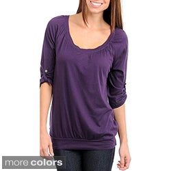 Stanzino Women's Scoop Neck 3/4 Sleeve Top
