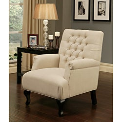Abbyson Living Tivoli Tufted Fabric Armchair