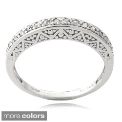 DB Designs Sterling Silver 1/6ct TDW Diamond Eternity Ring