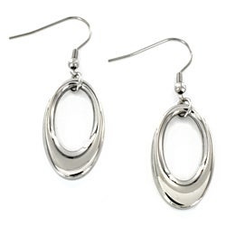 Stainless Steel Oval Dangle Earrings
