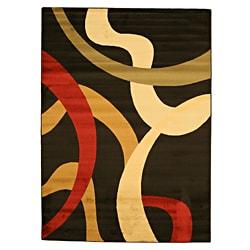 EORC Yalda Black Rug (5'3 x 7'3)