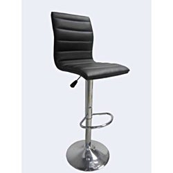 Chrome Espresso Dark Brown PU 2-piece Bar Stool Set