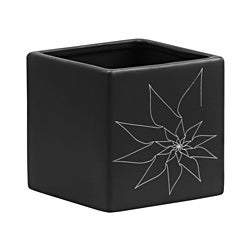 Black Brenda Square Vase (Set of 3)