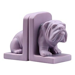 Purple Bulldog Bookend