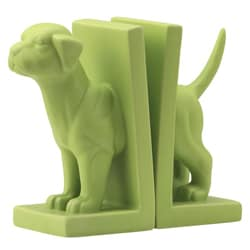 Green Feist Dog Bookend