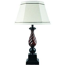 Brookhurst Resin Woodtone Table Lamp