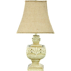 Versailles Tan Resin Table Lamp