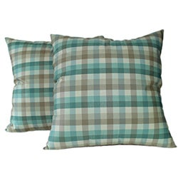 Casper Aqua Decorative Pillows (Set of 2)