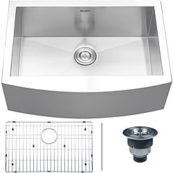 Ruvati 16-gauge Stainless Steel 30-inch Single Bowl Apron Front Kitchen Sink