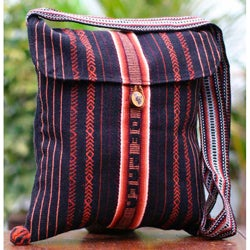 Handcrafted Acrylic 'Inca Paths' Small Shoulder Bag (Peru)