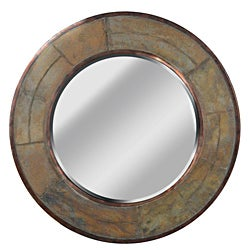 Pittit 32-Inch Natural Green Slate Wall Mirror