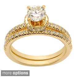 14k Gold 1ct TDW Diamond Bridal Ring Set (H-I, I1-I2)